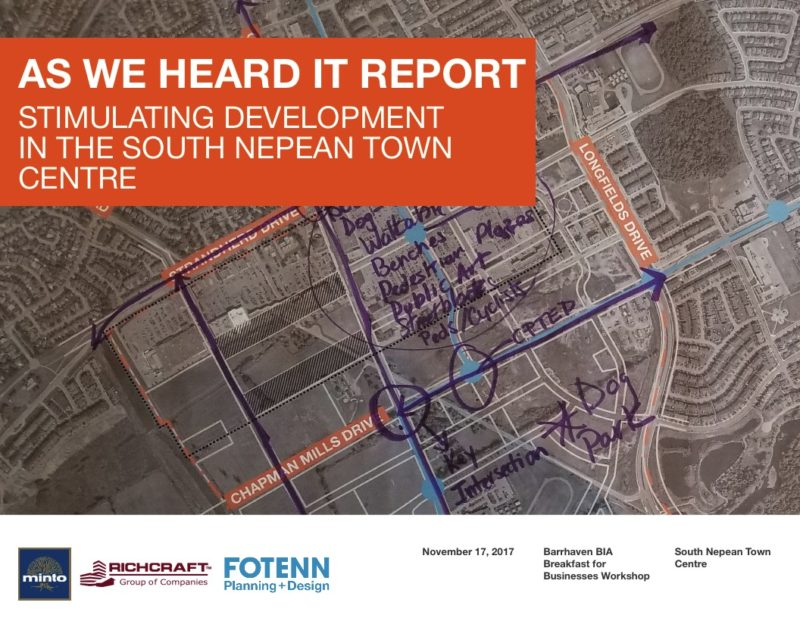 Summary of Findings from Barrhaven Town Centre Charette Breakfast