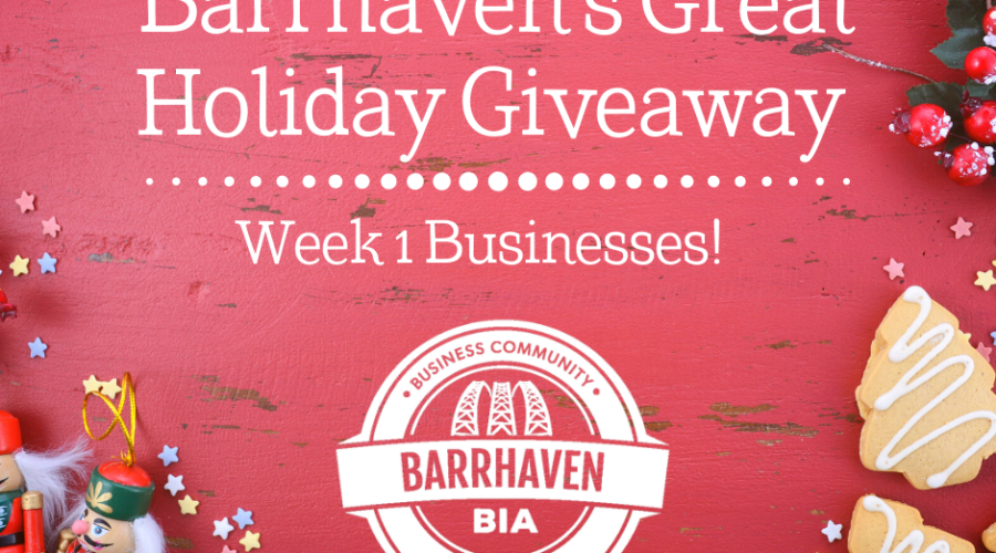 Barrhaven's Great Holiday Giveaway – Week 1